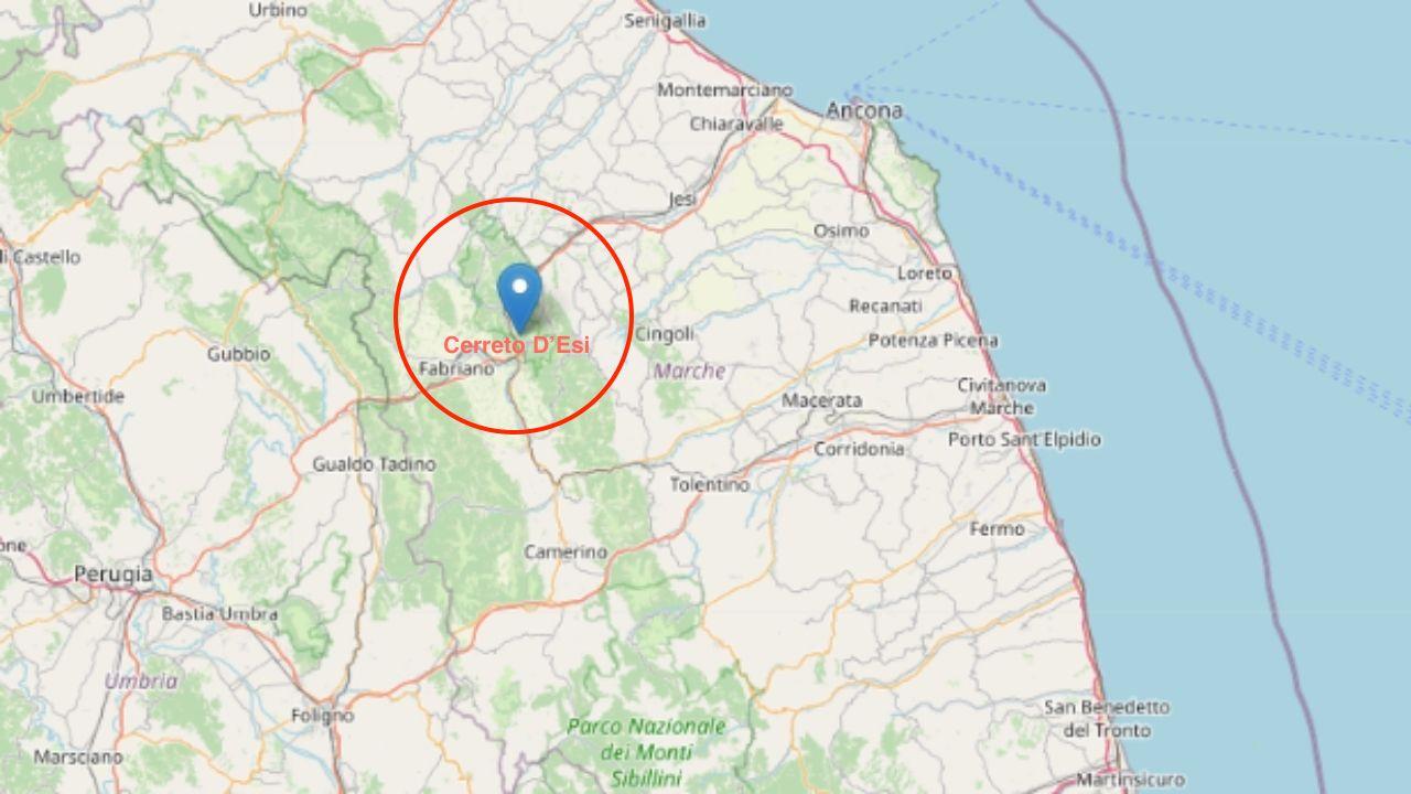 Terremoto Cerreto D'esi in provincia di Ancona