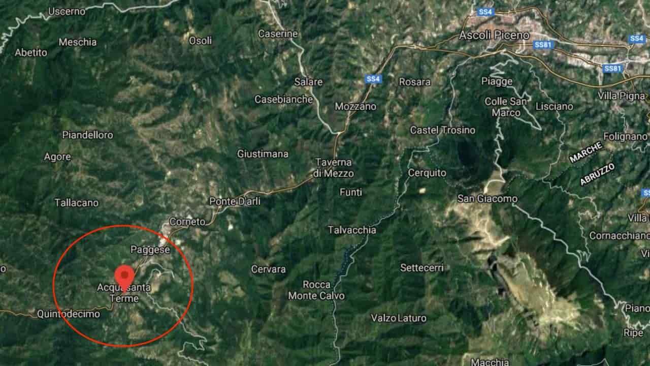 Terremoto Acquasanta Terme Ascoli Piceno