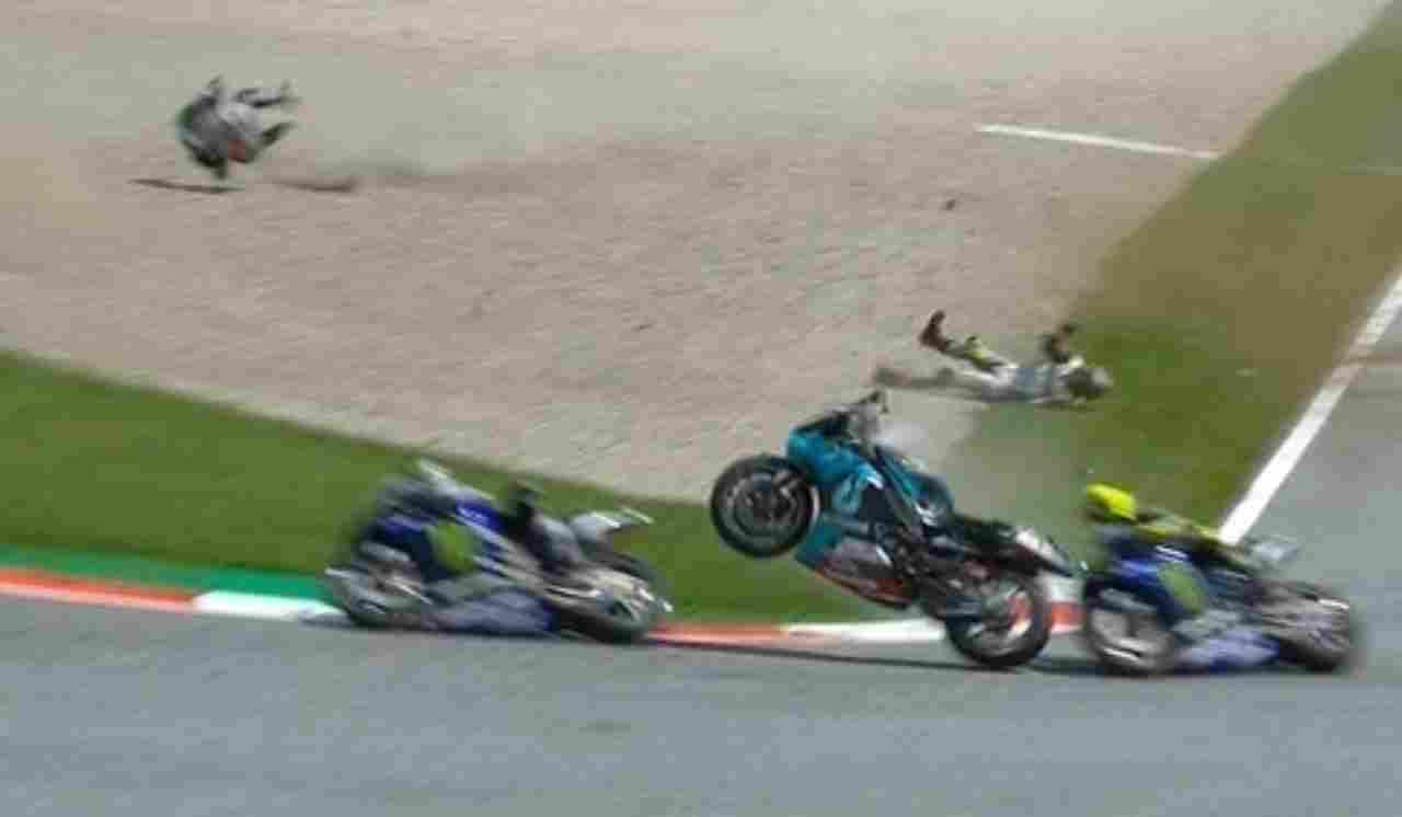 Valentino Rossi incidente Zarco
