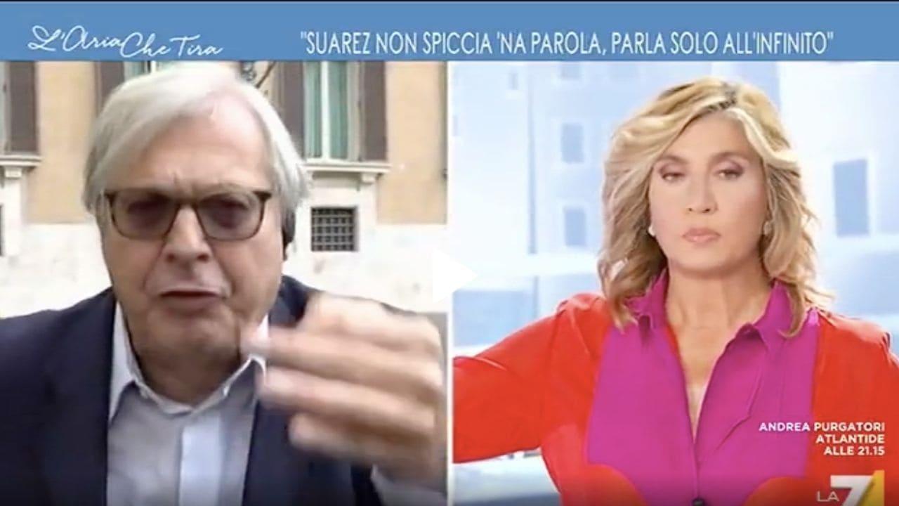 Vittorio Sgarbi a L'aria che tira