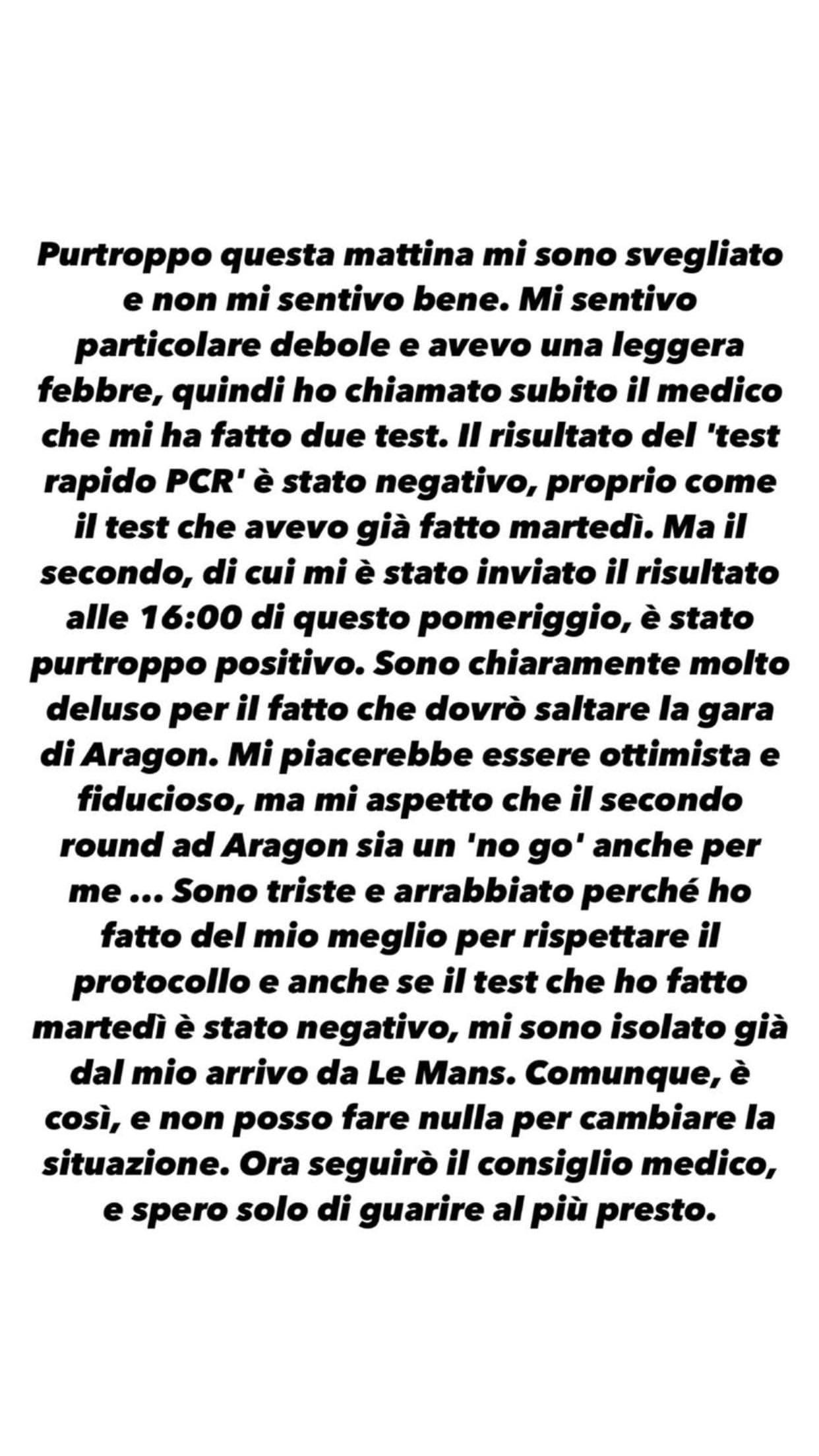 Valentino Rossi Coronavirus
