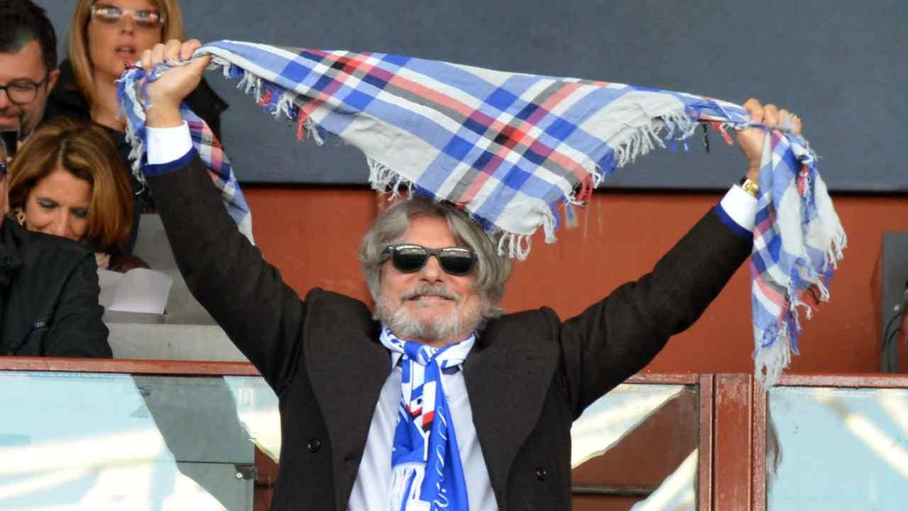 Minacce presidente Sampdoria