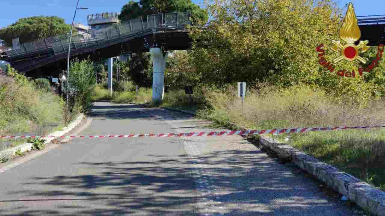 Roma crolla ponte