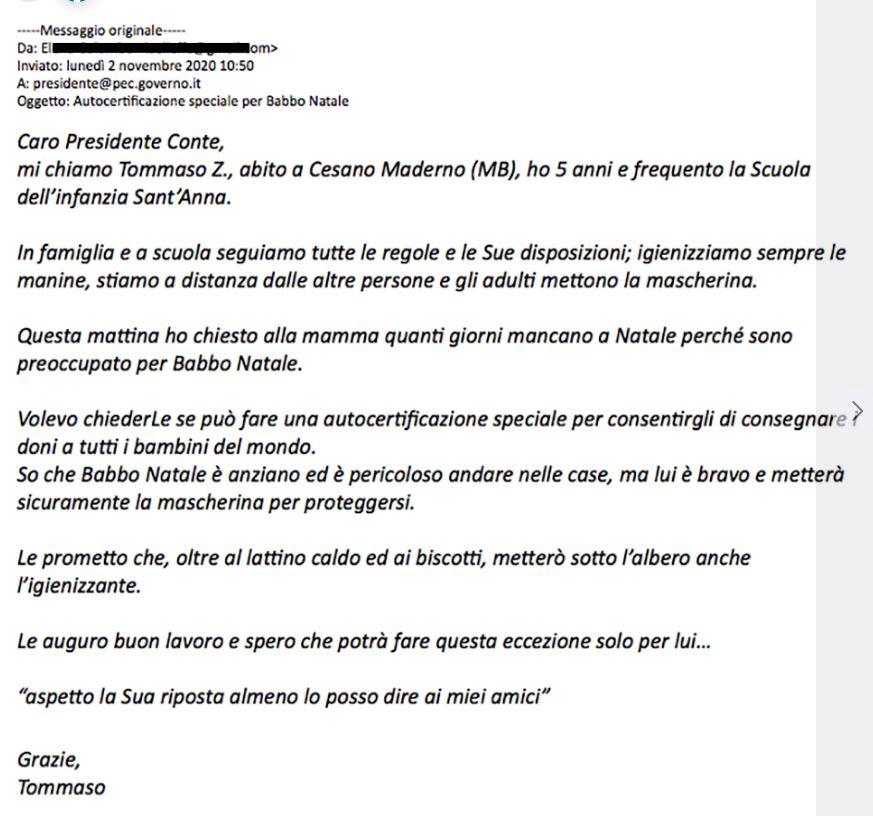 Lettera Conte Tommaso