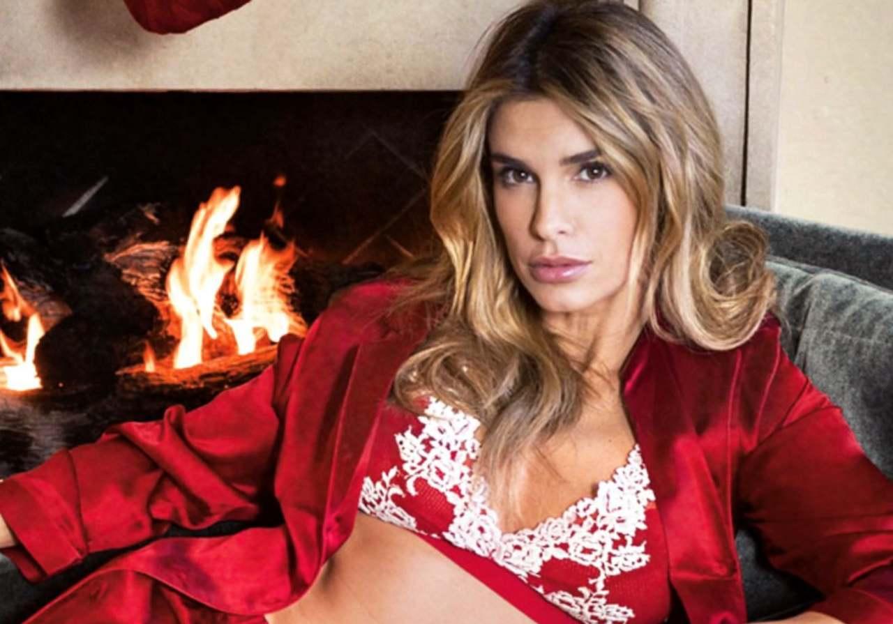 Elisabetta Canalis lingerie rossa