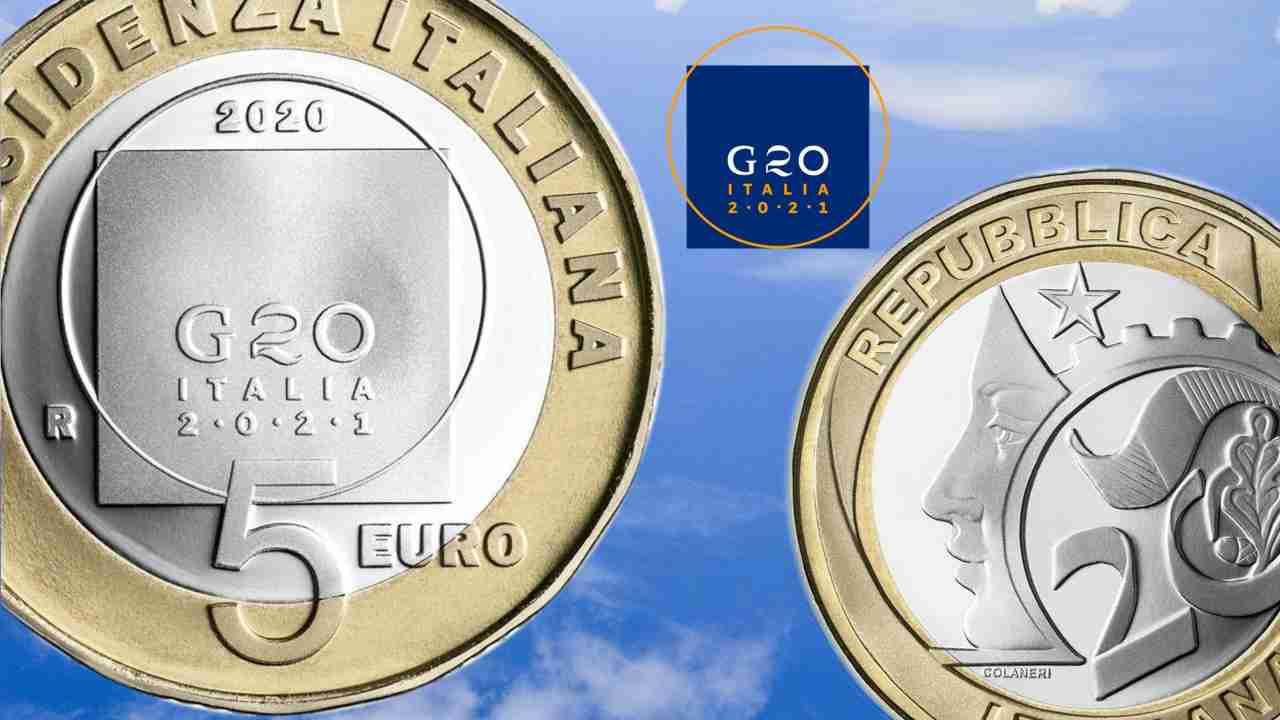 moneta 5 euro g20
