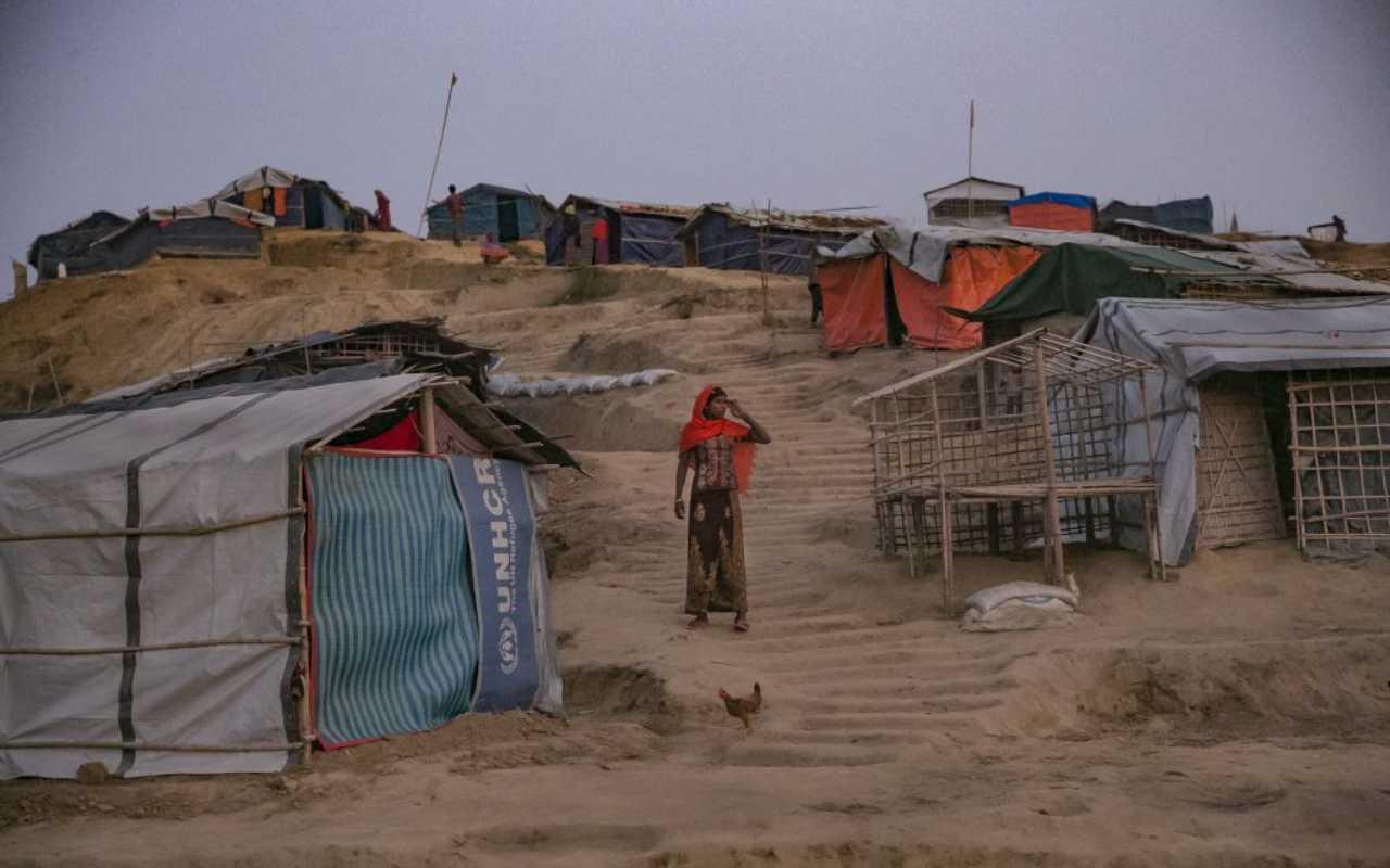 Campo profugo di Balukhali, in Bangladesh