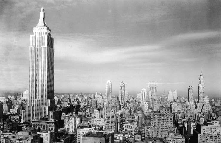 Empire State Building bianco e nero