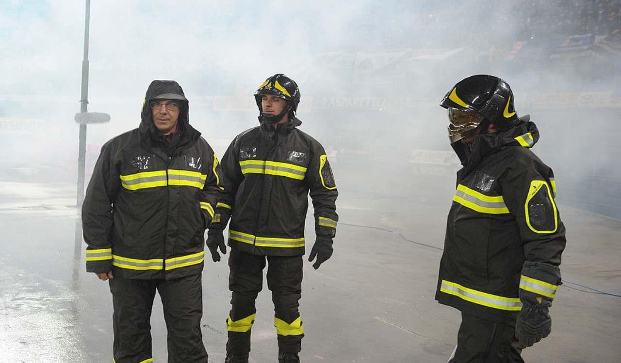 Incendio Cgil Lodi
