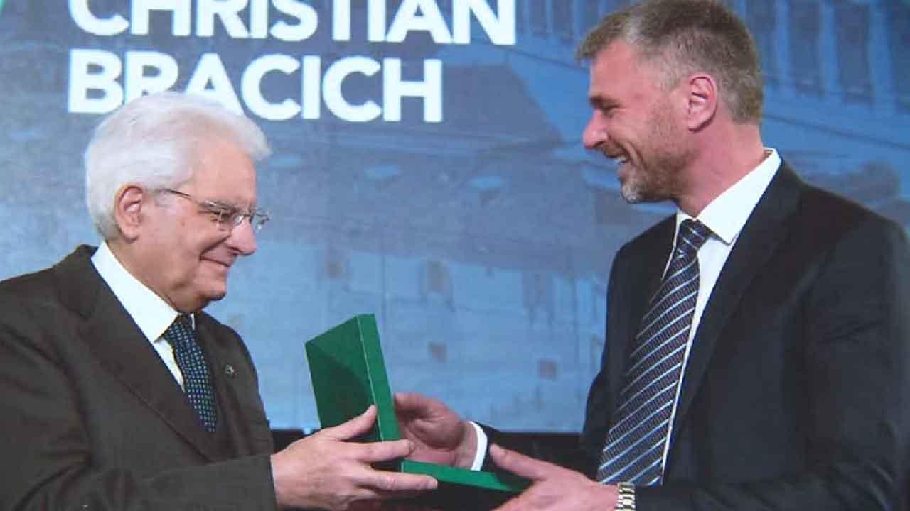 Christian Bracich, l'imprenditore premiato da Sergio Mattarella come eroe della Repubblica (RaiNews)