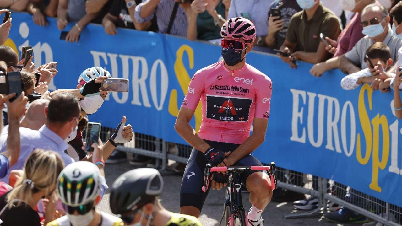 Filippo Ganna in rosa