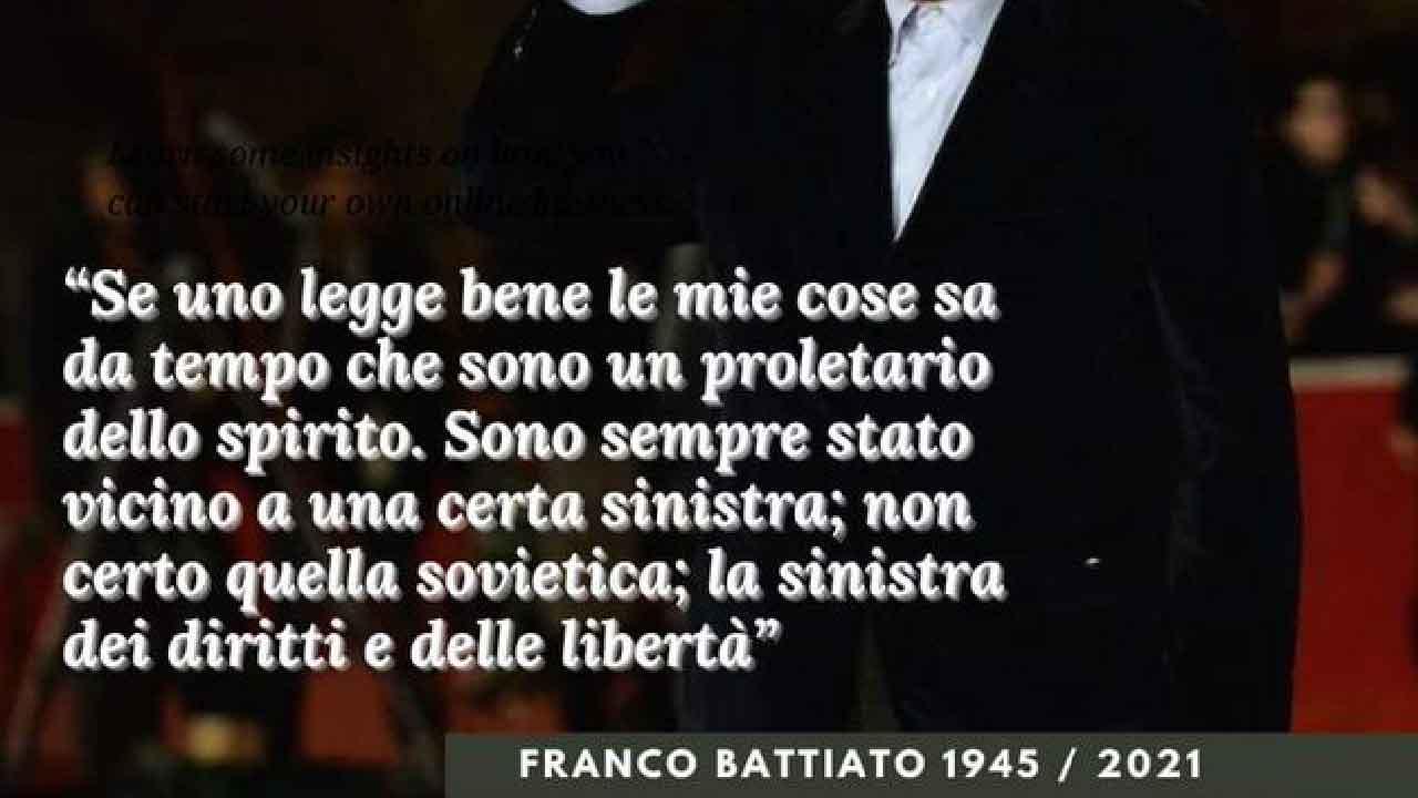 Franco Battiato, era di destra o di sinistra? Il suo pensiero politico.