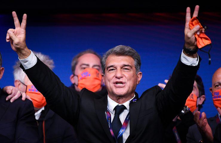 Juan Laporta Presidente Barcellona