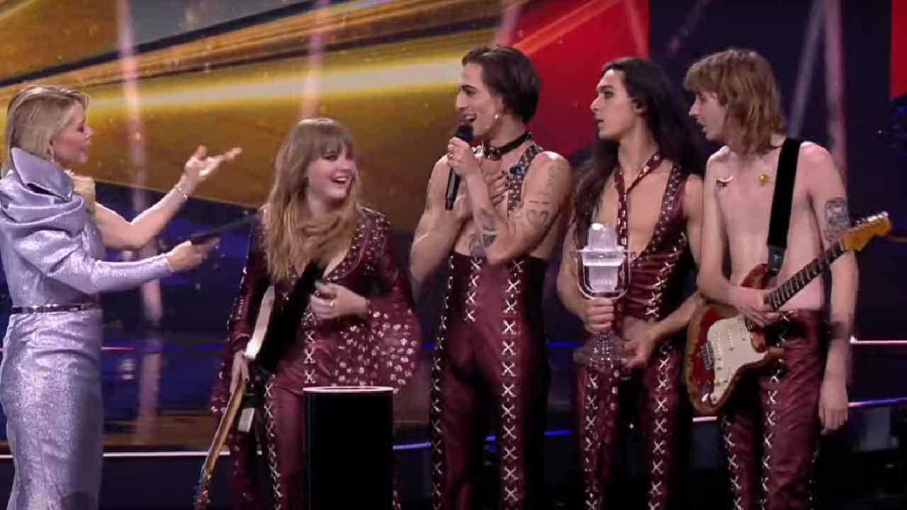 Eurovision 2021, i Maneskin vincono il contest europeo 30 anni dopo Toto Cutugno (Screenshot)