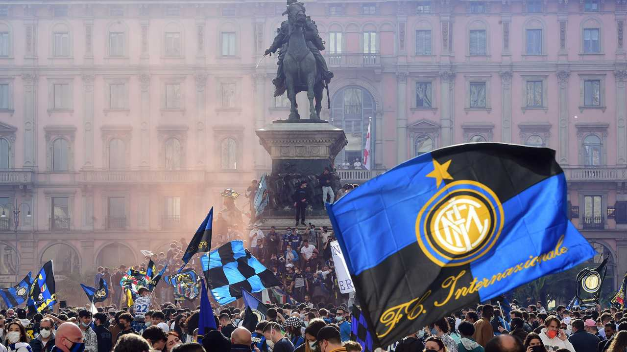 inter-campione Festeggiamenti Milano
