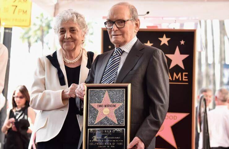 Ennio Morricone con la moglie Maria Travia