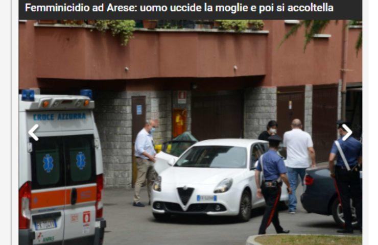Screenshot Femminicidio Arese