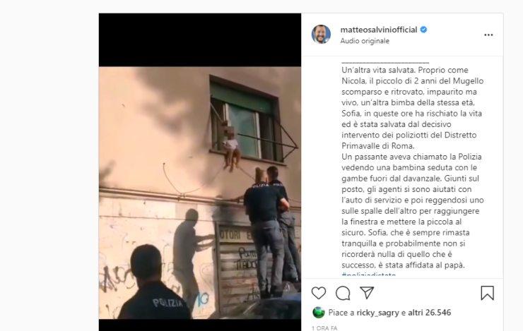 Screenshot Matteo Salvini