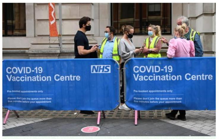 Covid: torna la paura in Gran Bretagna, nuovo picco contagi della variante Delta