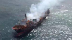 sri lanka, affondata nave cargo