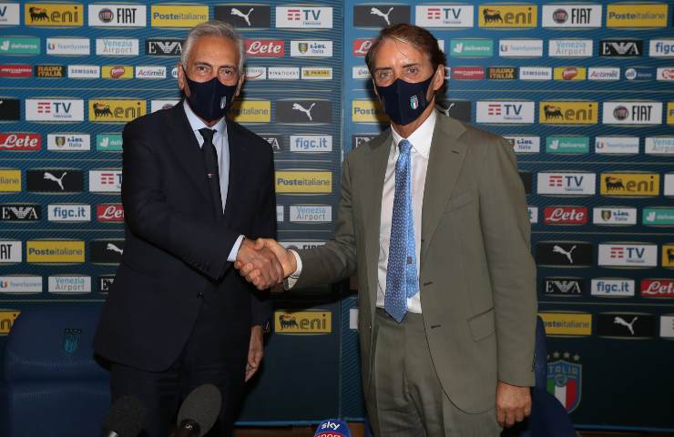 Gabriele Gravina e Roberto Mancini