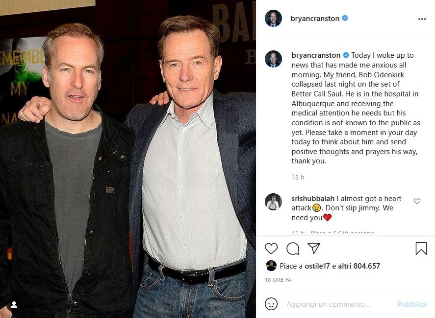 Instagram Bryan Cranston