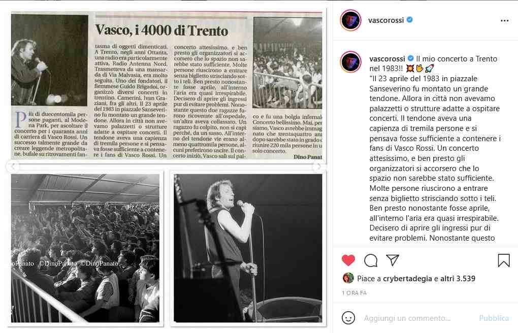 Instagram Vasco Rossi