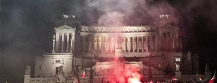 Screenshot Festeggiamenti vittoria Italia Roma