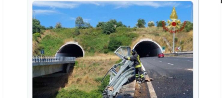Screenshot Incidente Tir precipitato