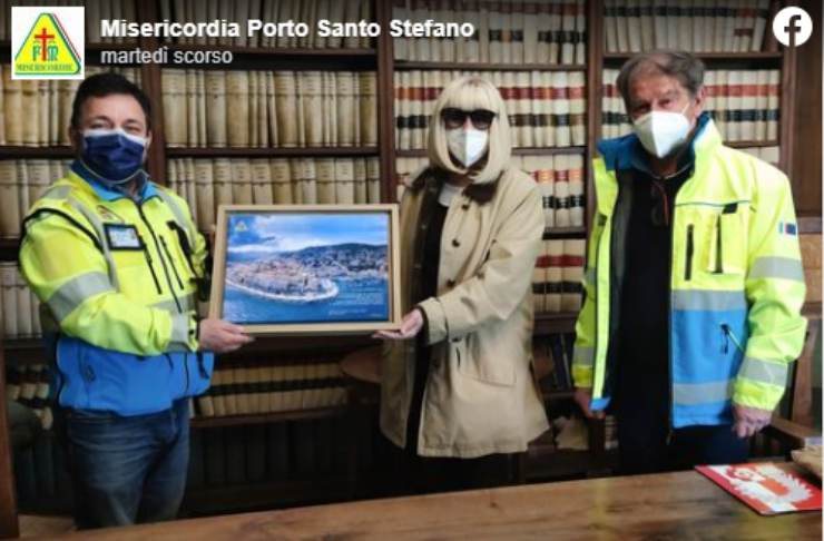 Screenshot Raffaella Carrà Donazione