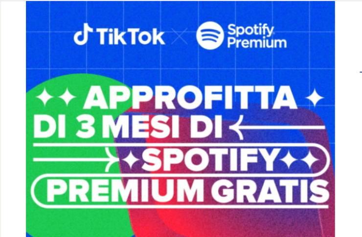 Screenshot TikToK e Spotify
