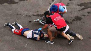 olimpiadi di tokio, incidente per connor fields nella semifinale di bmx