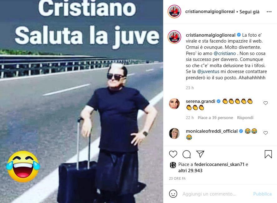 Cristiano Malgioglio Instagram