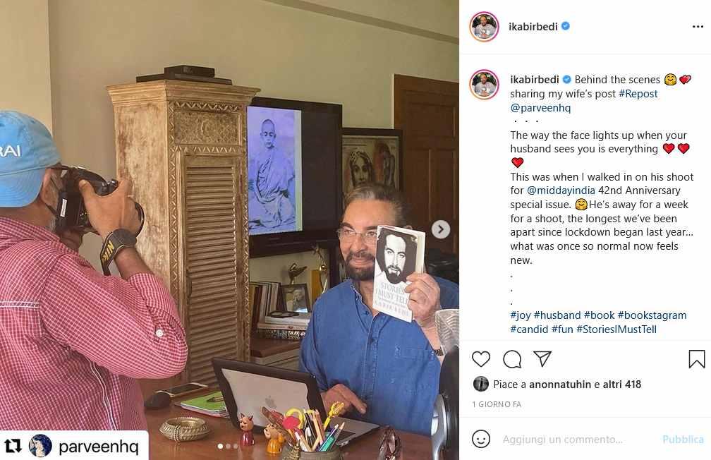 Instagram Kabir Bedi