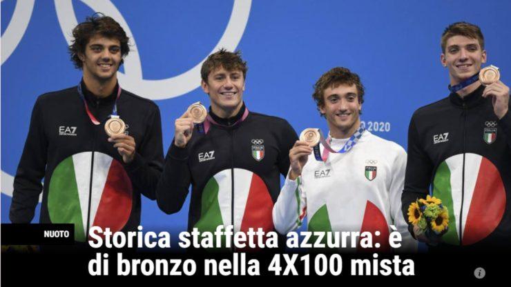Screenshot Staffetta mista 4x100 Bronzo