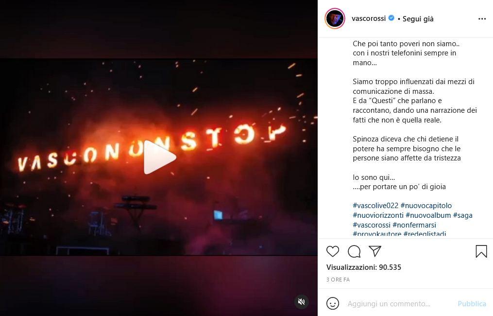Vasco Rossi Instagram