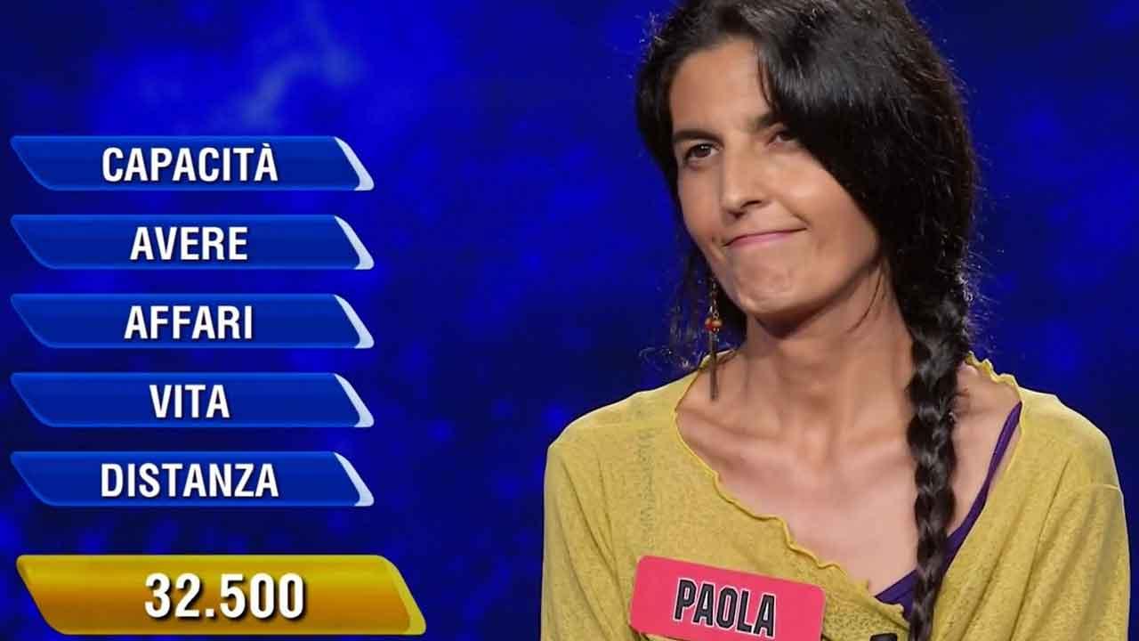 L'Eredità, la campionessa Paola non è riuscita ad aggiudicarsi il montepremi (Foto dal web)