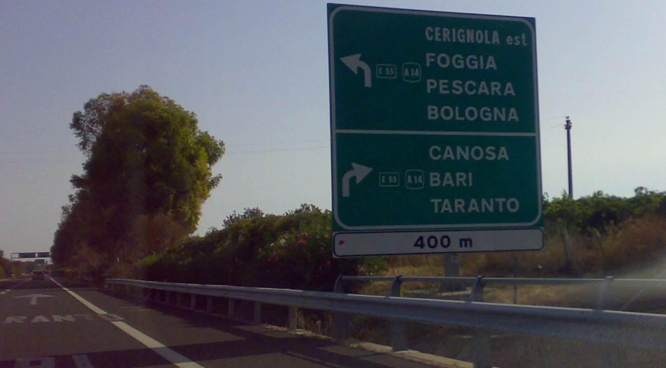 Rapina Autostrada A16