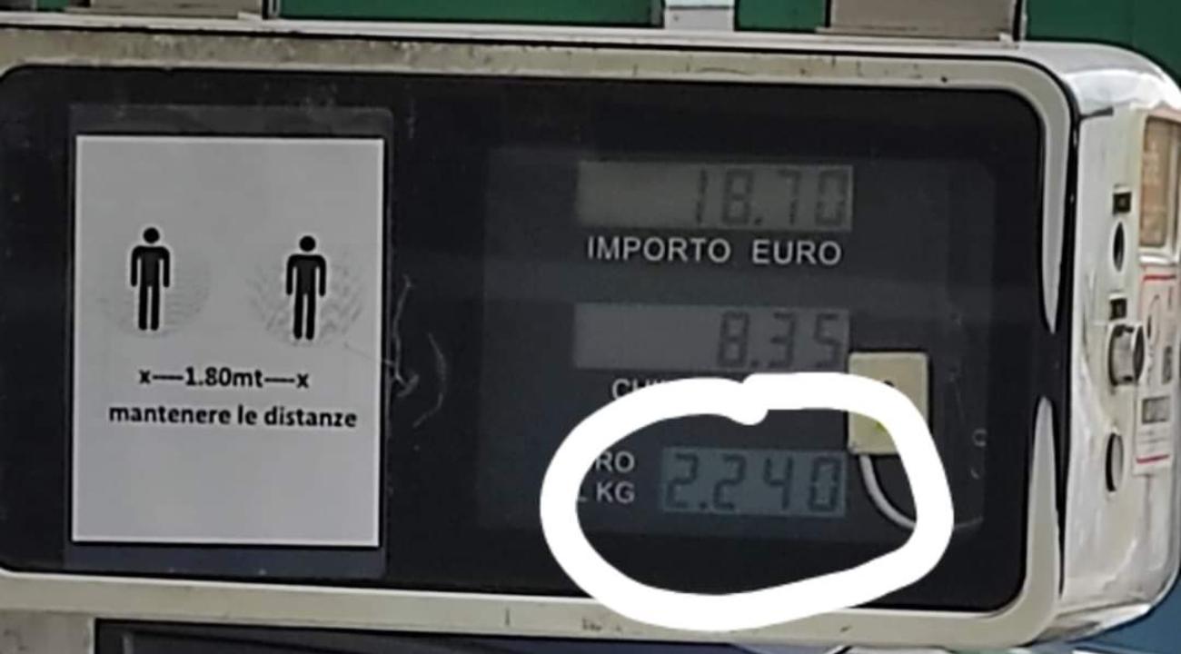 Aumento prezzo Metano Auto