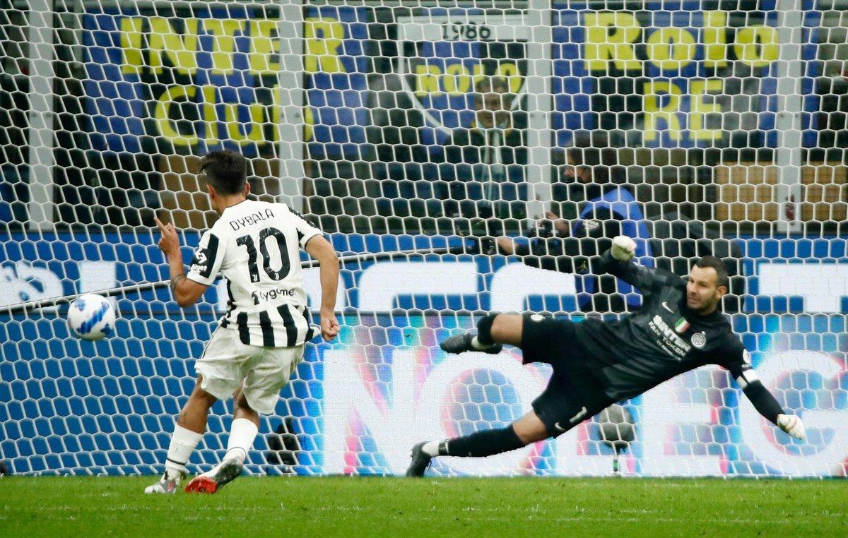 Inter Juventus 1 1, rigore di Dybala nel finale: tabellino e highlights