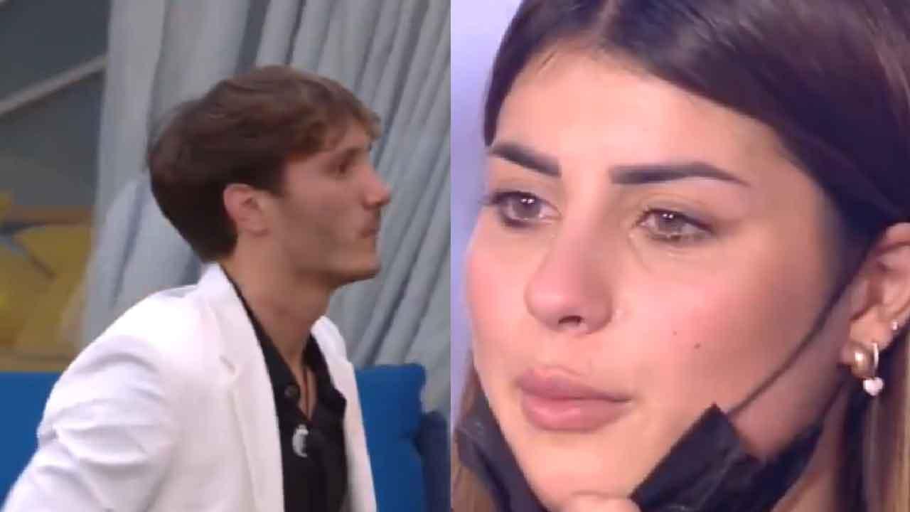 Manuel Bortuzzo, la sua ex fidanzata piange in diretta vedendolo (Screenshot)