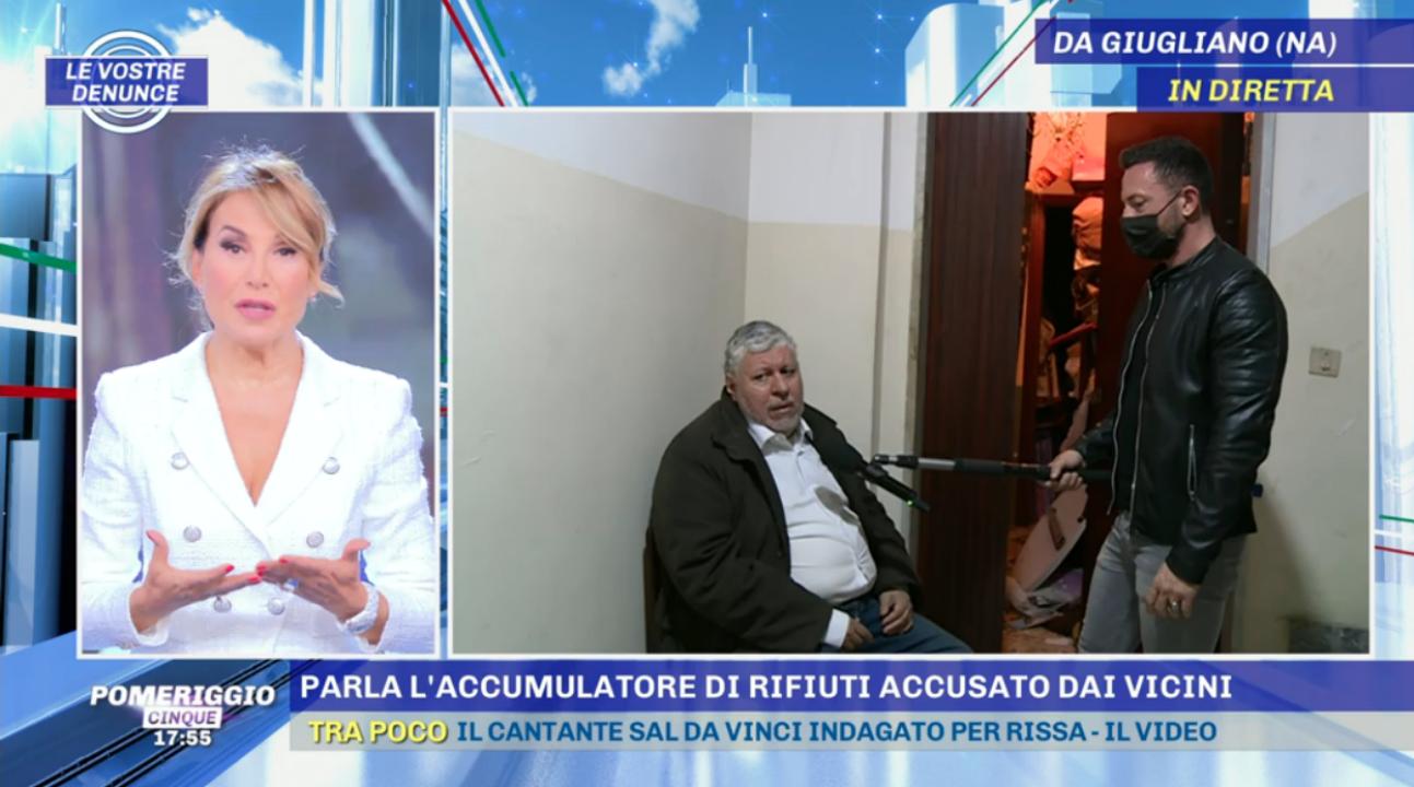 """Pomeriggio Cinque e l'intervista a Edoardo, l'accumulatore seriale """"sepolto in casa"""""""